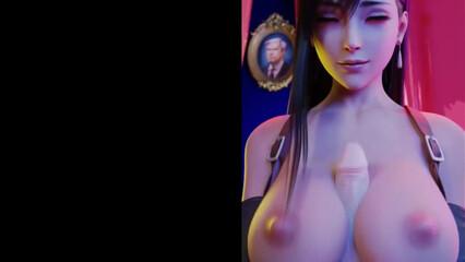 Самый красивый хентай 3D с большой грудью